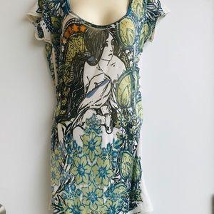 Art-To-Wear Vintage Graphic Tee Shirt  Size XXL